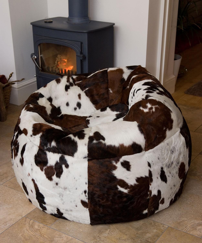 Giant Cow Hide Bean Bag Cwt Tatws