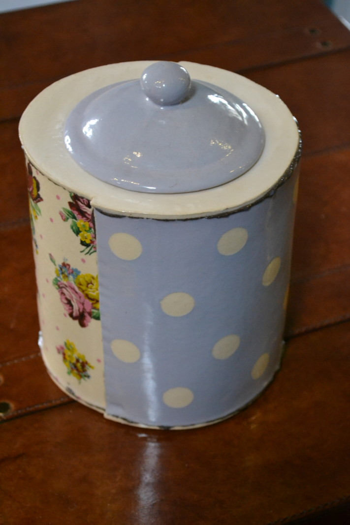 Lilac Biscuit Barrel - Virginia Graham